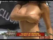 Valeria De Genaro big boobs half naked video