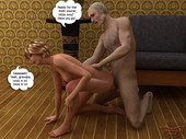 Animated Incest - Cute girlie rides her granny's cock