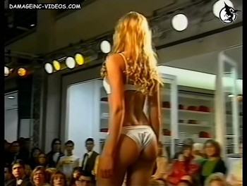 Carola Del Bianco round ass in white thong