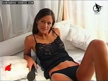 Yoscelyn Caroley in lingerie legs open