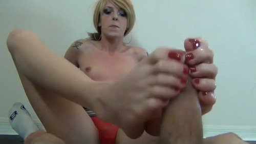 PRISONER BELLA FOOTJOB TEASE & DENIAL