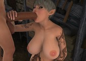 VGBabes3D - Artwork of oral sex