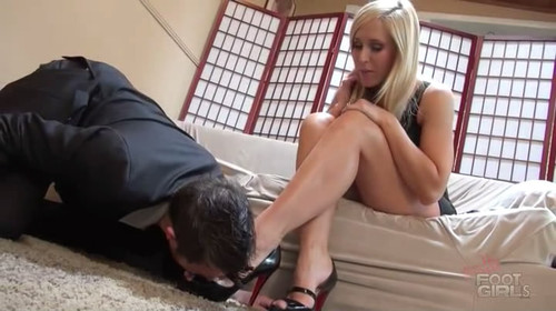 Blonde big tit mom karen fisher pov with a mouth full